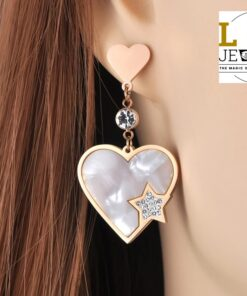 Cercei Love & Heart Rose Gold