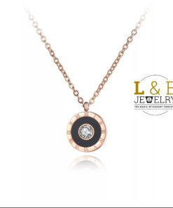 Colier Elegant -Love & Beauty Numerals & Crystal