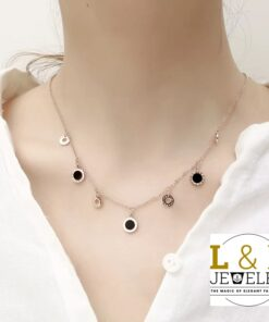 Brilliant Elegant Choker Necklace- Numerals
